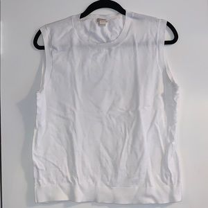 J Crew Cotton Shell Size L White